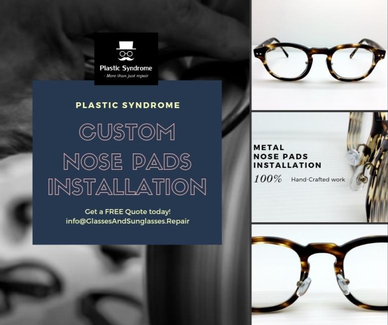 Adjustable Metal nose pad arms on plastic frames Sydney Melbourne Brisbane Adelaide Perth Cairns Hobart Australia